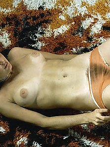 Several seventies wifes showing their fine natural bodies