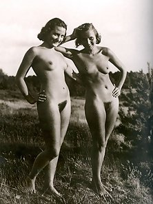 Several Vintage Ladies Expose Fully Naked Figure at Outdoor in Different Places