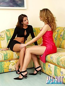 Lusty brunette Blake licking with lust a big dildo