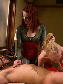 Three way pain sex session