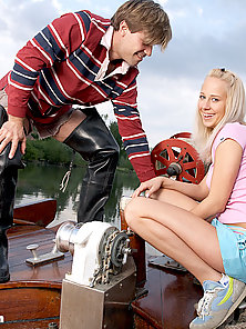 Blonde schoolgirl loves to get shagged outdoors