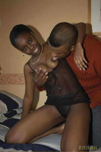 Black Girl Fingers Her Asshole