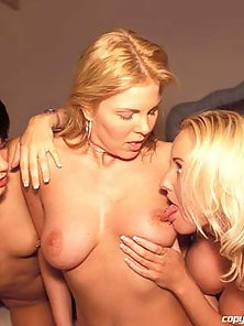 Three hot lesbians finger and lick each other