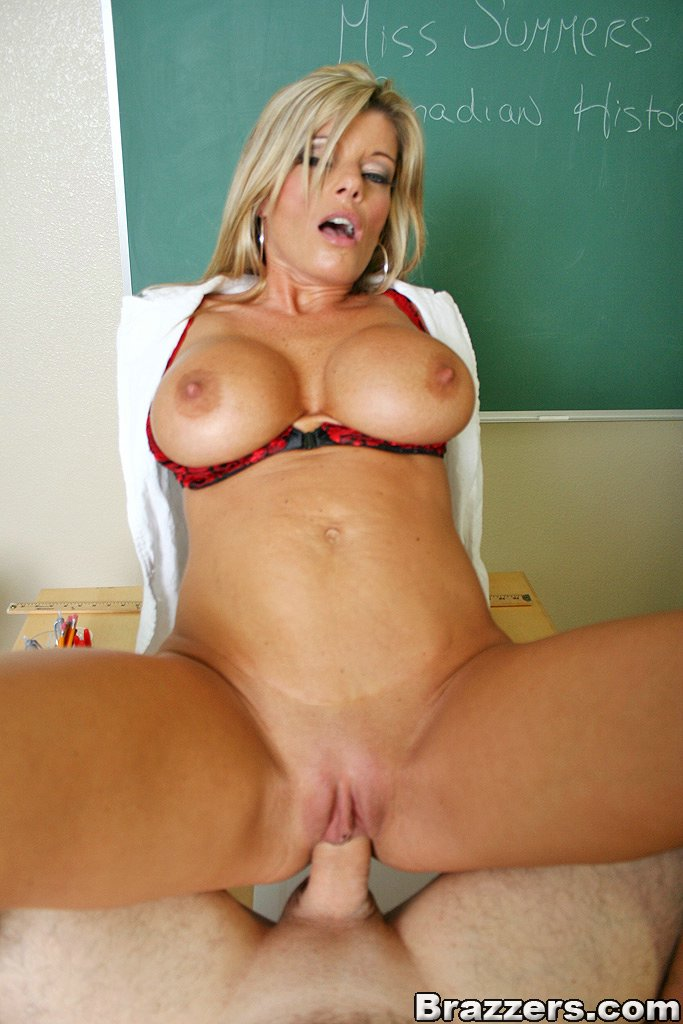 Big blonde tits sex teacher