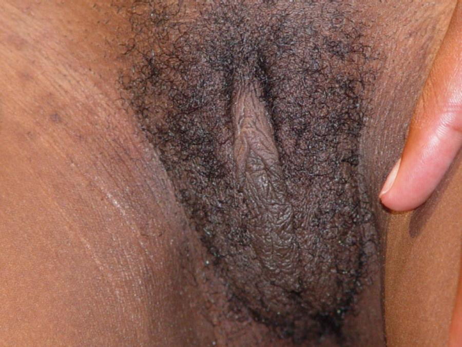 Sexy black pussy close up