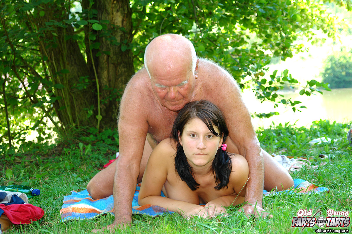 Nude Girl And Old Man