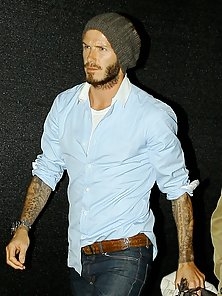 The hot and chiseled body of football fame David Beckham