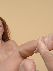 Cute Red Head With Perfect White Skin