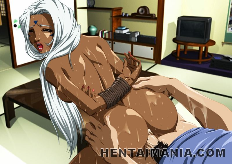 Luscious hentai ebony getting bubble ass drilled by a fat ...
