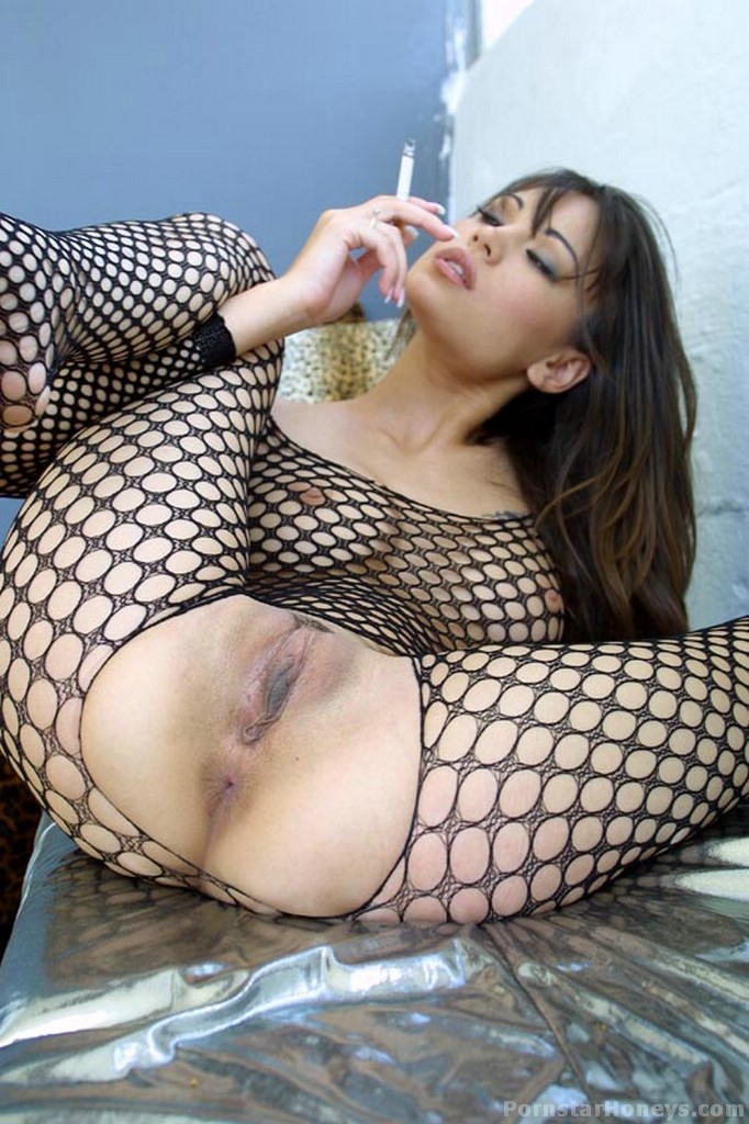 Nude girl full body fishnet consider