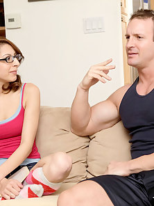 Glass Wore White Chick Gets Banged In Compact Fanny in Delight Mood