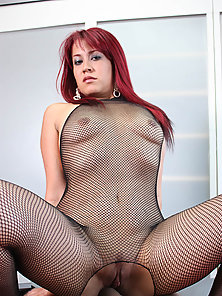 Camila Mendoza gets on her knees and blows a hard cock