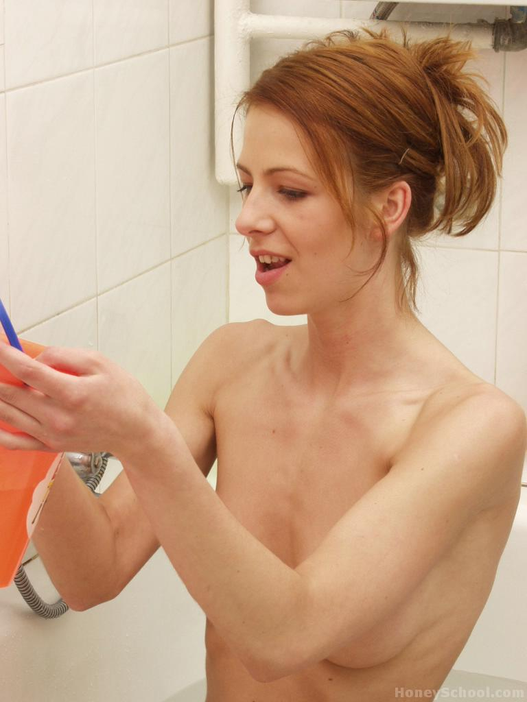 Absurd situation pic gallery of redhead squeezing tits