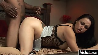 Tattooed Babe Leah Parker Sucked Black Man Big Cock