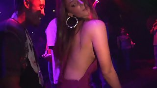 Gorgeous Girls Dance in Different Positions with Their Partners