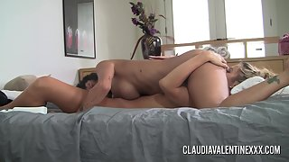 Big Boobs Whores Claudia and Courtney Rubbed Their Cunts by Vibrator