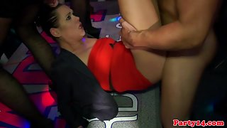 Gorgeous Girls Gangbanged In the Night Party