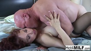 Super hot mature gets nailed by huge fat dick