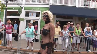 Alluring Girls Display Their Naked Bodies in Public Place