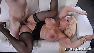 Stockings Wearing Whore Alura Jenson Nailed by Her Partner