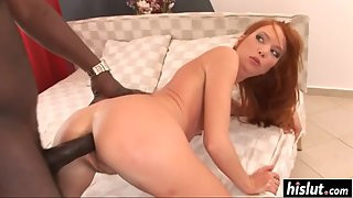 Redhead Slut Electra Angel Takes Deep Penetration from Her Dude