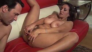 Huge Boobs Mature Gets Rammed by Her Dude on Webcam