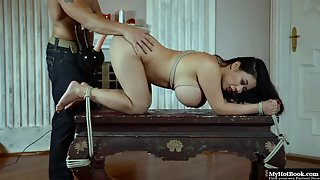 Curvy Asian babe enjoys submissive anal toying by her maledom