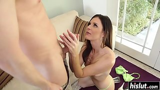 Small Boobs Babe India Summer Takes Big Dick of Her Dude in Tight Pussy