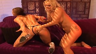 Hottest Girls Licked Their Tight Pussies then Nailing by Sex Toys