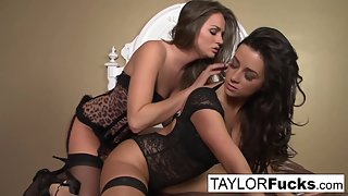 Skinny Chicks Taylor Vixen and Tori Black Licked Their Juicy Pussies