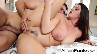 Round Ass Babe Alison Tyler Slammed by Her Dude with Loudly Moans