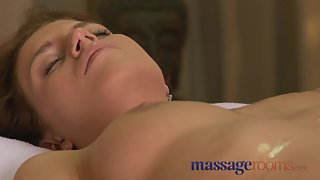 Massage Rooms Cute Teen Enjoys Fingering And Sensual Climax